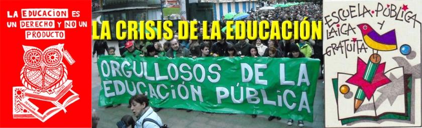 LA CIRIS DE LA EDUCACIÓN